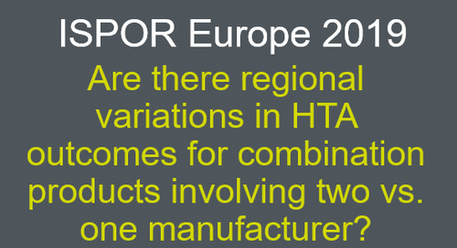 Are there regional variations in HTA outcomes for combination products involving two vs. one manufacturer?