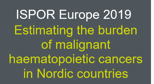 Estimating the burden of malignant haematopoietic cancers in Nordic countries