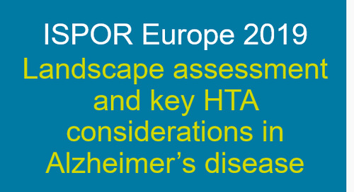 Landscape assessment and key HTA considerations in Alzheimer's disease