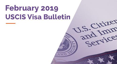 USCIS February 2019 Visa Bulletin