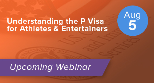 Understanding the P Visa for Athletes & Entertainers