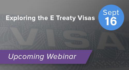 Exploring the E Treaty Visas
