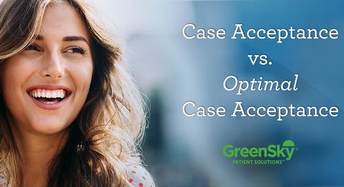 Case Acceptance vs Optimal Case Acceptance