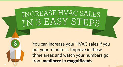 Increase Your HVAC Sales in Three Easy Steps (Infographic)
