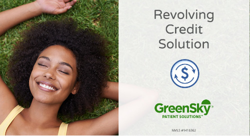 Announcing Revolving Credit - Another Payment Option for your Patients