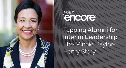 Tapping Alumni for Interim Leadership | The Minnie Baylor-Henry Story