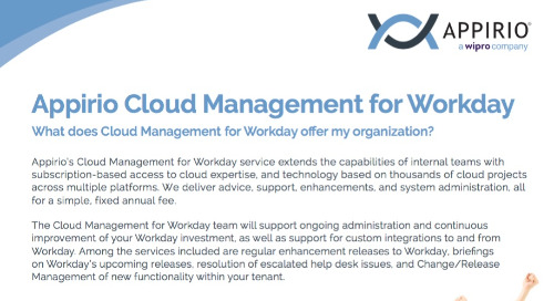 Appirio Cloud Management for Workday