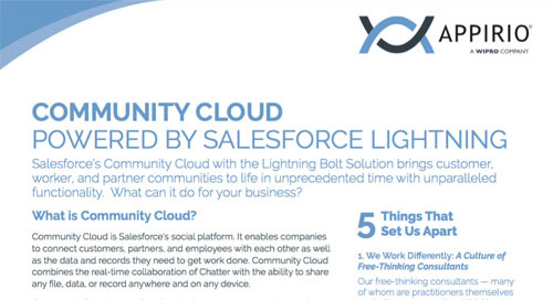 Community Cloud Powered by Salesforce Lightning