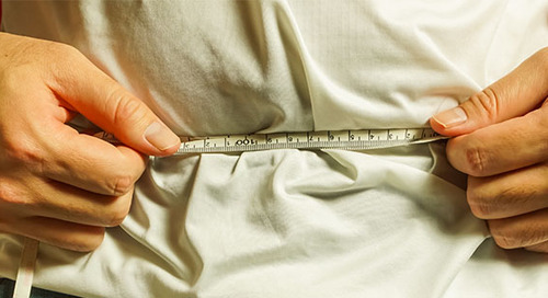 How to measure weight at your waistline