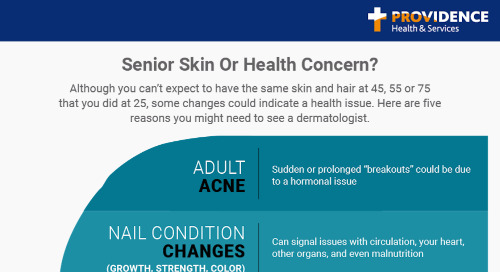 Senior skin or health concern? Five reasons to see a dermatologist.