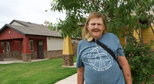 """I'm safe."" Hospice patient grateful for Open Door housing, services"