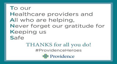 Thank a caregiver: A printable thank you sign