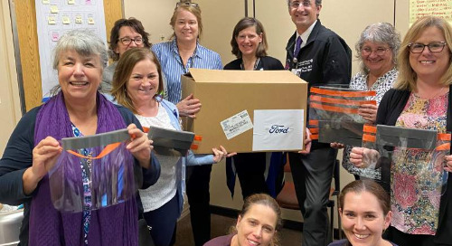 Ford donates thousands of face shields to Santa Rosa Memorial Hospital