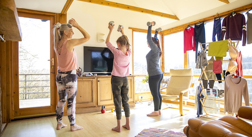 Creative replacement gear for at-home workouts while WFH