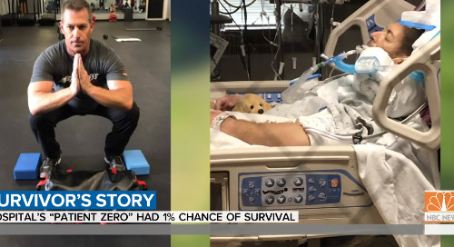 Early coronavirus patient survives to tell his story