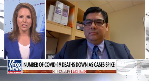 Dr. George Diaz on lower coronavirus deaths as cases spike