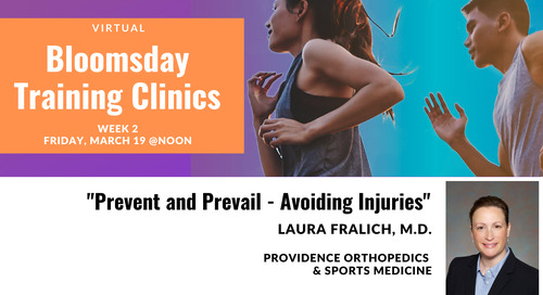 Week 2: Bloomsday Training Clinics with Dr. Laura Fralich