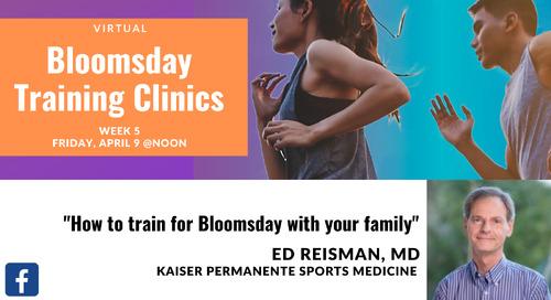 Week 5: Bloomsday Training Clinics with Dr. Edward Reisman