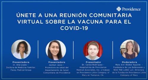 COVID Vaccine Town Hall (en Espanol)