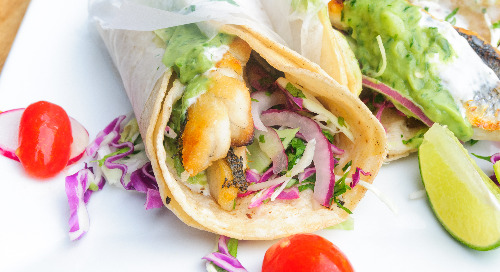 Healthy Recipe: Tilapia Fish Tacos with Zoodle Slaw