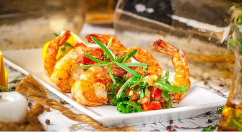 Healthy Recipe: Grilled Shrimp with Mint Salsa Verde