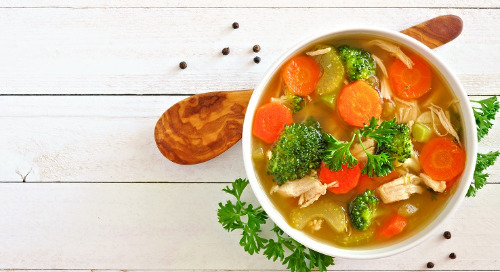 Healthy Recipe: Chicken-Vegetable Soup with Orzo and Spinach
