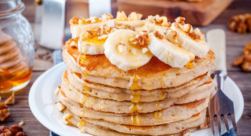Healthy Recipes: Avocado Banana Pancake Stacks