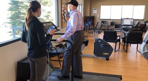 101-year-old TAVR patient keeps walking