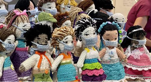 Nurse's Crochet Dolls Bring Joy to Co-workers, Patients