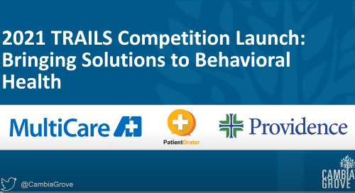 Behavioral Health Innovation: Trails Competition Kick Off