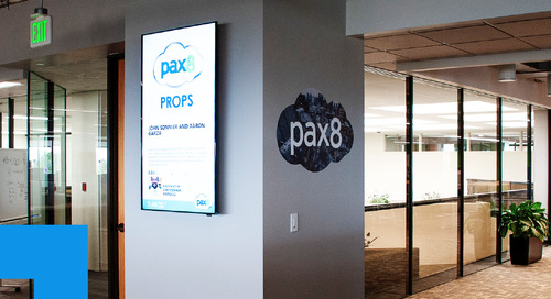 Using Digital Signage to Elevate the Workplace Experience at Pax8