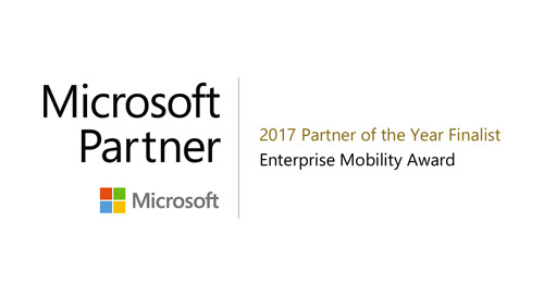 AWARD: Microsoft 2017 Enterprise Mobility Partner of the Year Award Finalist