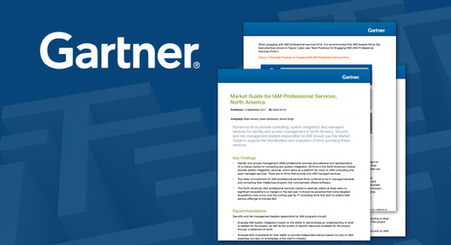 Edgile Named in Gartner's Market Guide for IAM Professional Services for Second Year in a Row