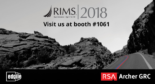 RIMS 2018 with Edgile and RSA- San Antonio