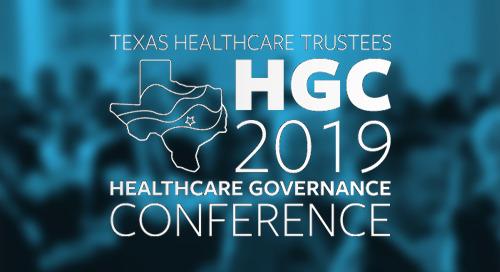 Jul 18-20, 2019 in San Antonio, TX - THT Healthcare Governance Conference