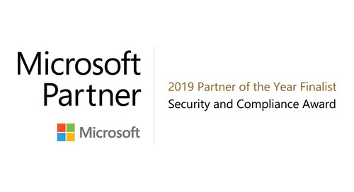 AWARD: Top Microsoft Security and Compliance Partner (1 of 4 globally)