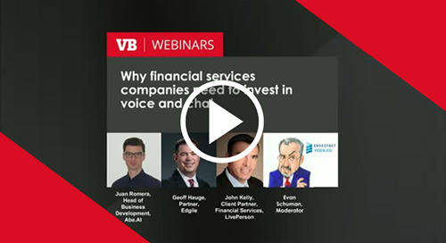 Sep 24, 2019 - Why financial services companies need to invest in voice and chat