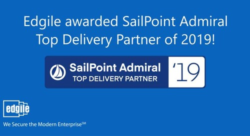 Edgile named SailPoint Delivery Admiral