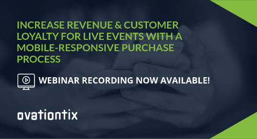 Webinar Recording: Increase Revenue and Customer Loyalty for Live Events with a Mobile-Responsive Purchase Process