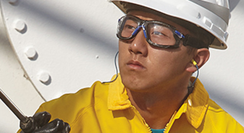 Anti-fog technology. Applied to help workers see clearly, longer.
