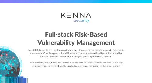 Full-Stack Risk-Based Vulnerability Management