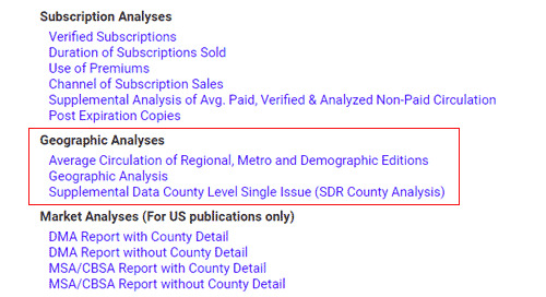 Access Geographic Data in the Periodical Analyzer