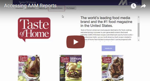 How to Access AAM Reports