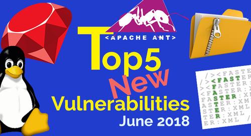 Top 5 New Open Source Vulnerabilities in June 2018