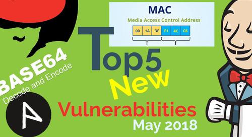 Top 5 New Open Source Security Vulnerabilities in May 2018