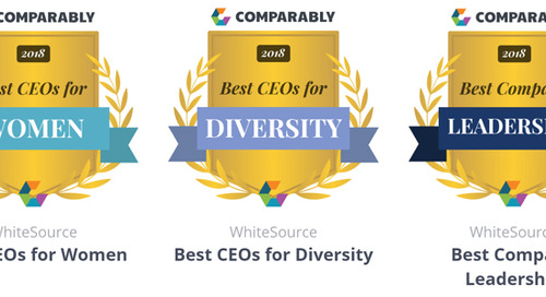 WhiteSource Wins Comparably 2018 Culture Awards for Leadership, and for Promoting Diversity and Women