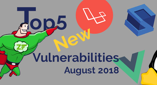 Top 5 New Open Source Security Vulnerabilities in August 2018