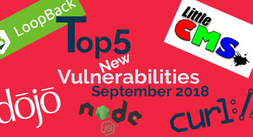 Top 5 New Open Source Security Vulnerabilities in September 2018