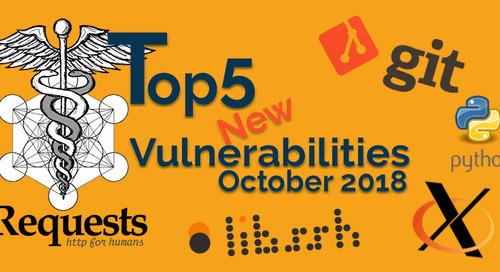 Top 5 New Open Source Security Vulnerabilities in October 2018
