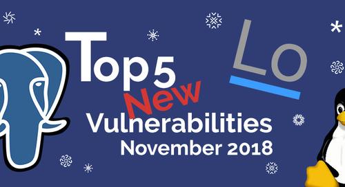 Top 5 New Open Source Vulnerabilities in November 2018